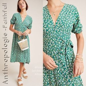 NWT ANTHROPOLOGIE Faithfull Farah Midi Dress XS
